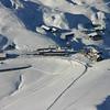 Zoom of Kleine Scheidegg from Sphinx Obervation Terrace