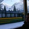 Doug on the train to Kleine Scheidegg