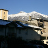 View from where we parked in Aosta