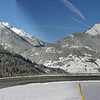 Panoramic view at switchback near Rive-Haute