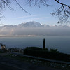 Lake Geneva (Lac Léman) as seen from a rest stop at Montreux