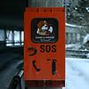 Emergency call box near the St. Bernard tunnel