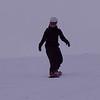 Dana snowboarding at Männlichen