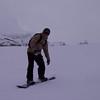 Joe snowboarding at Männlichen
