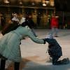 Ice skating at Bundesplatz.  Help comes quickly.