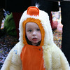 Child in duck outfit