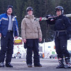 Matt, Joe, and Kurt in parking lot at the base of the Médran gondola