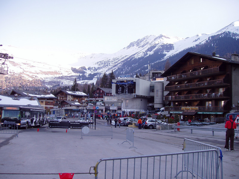 Base of the Médran lifts in Verbier