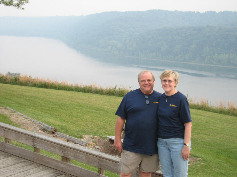 You can see why they call it the Overlook Restaurant.  That's the Ohio River in the background.