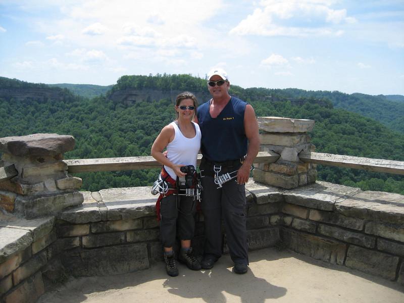 Chimney Top Rock overlook.