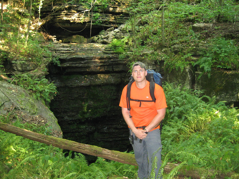 Once again the hot, dry season shorted us on a lot of beauty.  There is often an awesome waterfall flowing over the edges behind Shawn in this photo.  One thing the photo DOES show very clearly is why the cave is named Fern Cave.