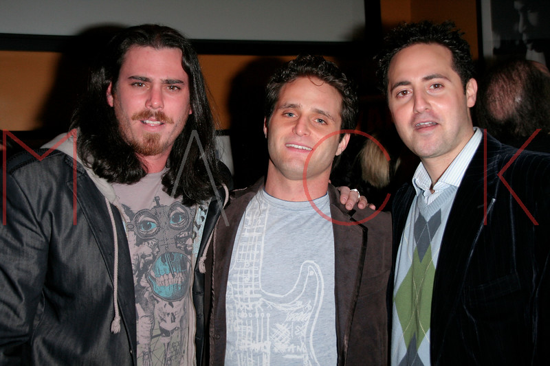 NEW YORK, NY - APRIL 16:    Jay Gavin, Adam Port, Maury Gersten  at The Athletes for Charity Art Exhibit, Silent Auction & Birthday Celebration for Jay Galvin at SLATE on April 16, 2007 in New York, NY (Photo by Steve Mack/S.D. Mack Pictures)