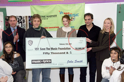 New York, NY - February 13:  A Charity event with a $50,000 donation presented by Marc Lawrence and Haley Bennett at The Hudson Theatre.