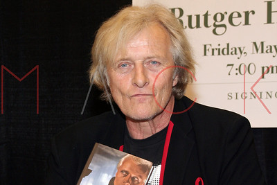 "New York, NY - May 04:  Bookstore appearance by actor Rutger Hauer, signing ""All Those Moments"" at Barnes & Noble."