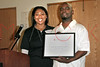 Monique Myles presenting Geoffrey Canada with special Recognition Award at The New York Urban League Young Professionals (NYULYP) annual National Day of Service (NDOS) at the Harlem Children's Zone, located at 35 East 125th Street, New York, NY.  <center>New York, NY May 5, 2007 ***EXCLUSIVE*** Photo by ©Steve Mack