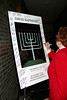 "NEW YORK - October 16: Bernice Arnold signing ""THE MENORAH"" poster at The installation of """