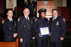 NEW YORK - October 7: Father Michael Perry (Our Lady of Refuge Church of God),P.O. Aisha Morales and Inspector Thomas J. Harris (70th Precinct Commanding Officer) at The 70th Precinct Medal Day and Appreciation Day Award Ceremony.  (Photo copyright 2007 by Steve Mack/S.D. Mack Pictures).