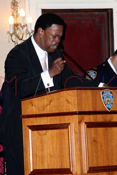 NEW YORK Ð October 7: Rev. Jean Beaulieu (Evangelical Crusade of Soul Winners Church) at The 70th Precinct Medal Day and Appreciation Day Award Ceremony.  (Photo copyright 2007 by Steve Mack/S.D. Mack Pictures).