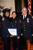 NEW YORK Ð October 7: P.O. Aisha Morales,P.O. Morillo and Inspector Thomas J. Harris (70th Precinct Commanding Officer) at The 70th Precinct Medal Day and Appreciation Day Award Ceremony.  (Photo copyright 2007 by Steve Mack/S.D. Mack Pictures).