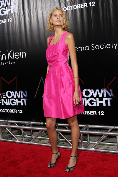 """NEW YORK - October 9: Model Hana Soukupova at The Cinema Society Presentation of """"We Own The Night"""".  (Photo by Steve Mack/S.D. Mack Pictures).  Note: These images are available for licensing through <a target=""""_blank"""" title=""""Licensing through FilmMagic"""" href=""""http://filmmagic.com"""">FilmMagic</font></a> and <a target=""""_blank"""" title=""""Licensing through Getty Images"""" href=""""http://gettyimages.com"""">Getty Images</font></a>."""