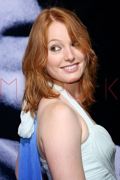 """NEW YORK - October 9: Actresses Alicia Witt at The Cinema Society Presentation of """"We Own The Night"""".  (Photo by Steve Mack/S.D. Mack Pictures)"""