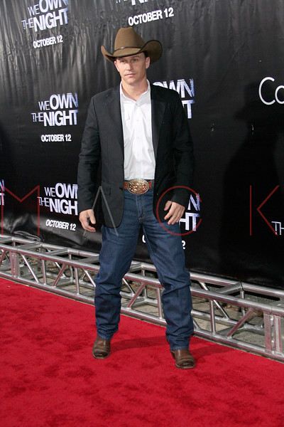 "NEW YORK - October 9: Ty Murray at The Cinema Society Presentation of ""We Own The Night"".  (Photo by Steve Mack/S.D. Mack Pictures).  Note: These images are available for licensing through <a target=""_blank"" title=""Licensing through FilmMagic"" href=""http://filmmagic.com"">FilmMagic</font></a> and <a target=""_blank"" title=""Licensing through Getty Images"" href=""http://gettyimages.com"">Getty Images</font></a>."
