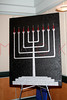 """NEW YORK - October 16: """"THE MENORAH"""", displayed on easel at The installation of """""""