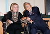 """NEW YORK - October 16: Frances Rappaport, David Rappaport at The installation of """""""