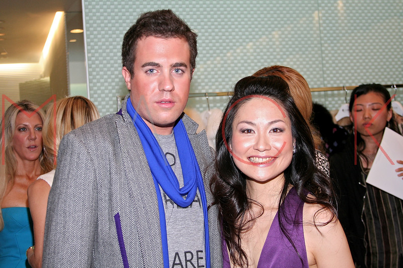 Kristian Laliberte and Chiaki Imai in attendance at an Exclusive Preview of the Royal Chie 2007 Collection.  <center>New York, NY October 2, 2007 Photo: ManhattanSociety.com by Steve Mack