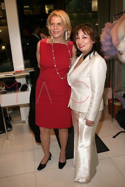 Francine LeFrak and Chie Imai in attendance at an Exclusive Preview of the Royal Chie 2007 Collection.  <center>New York, NY October 2, 2007 Photo: ManhattanSociety.com by Steve Mack