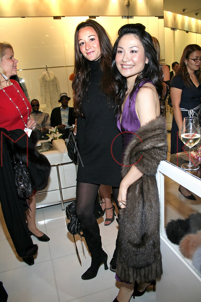 Guest and Chiaki Imai in attendance at an Exclusive Preview of the Royal Chie 2007 Collection.  <center>New York, NY October 2, 2007 Photo: ManhattanSociety.com by Steve Mack
