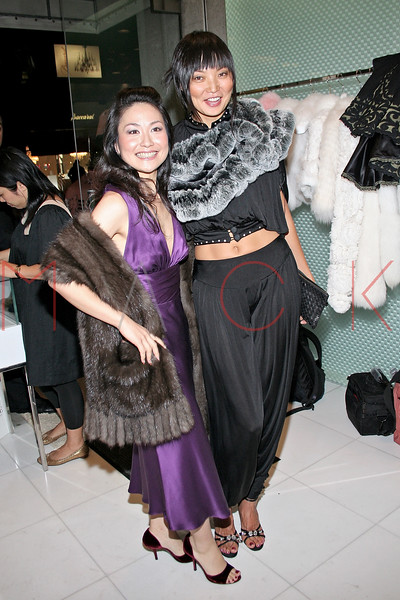 Chiaki Imai and Irina Pantaeva in attendance at an Exclusive Preview of the Royal Chie 2007 Collection.  <center>New York, NY October 2, 2007 Photo: ManhattanSociety.com by Steve Mack