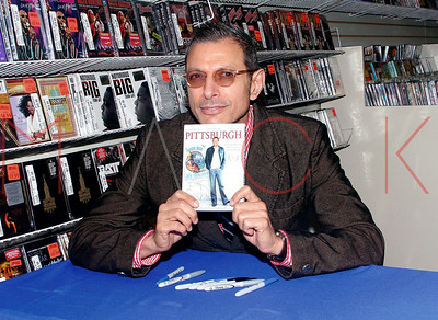 """New York, NY - September 21:  In-store appearance by Jeff Goldblum, signing copies of his  new DVD, """"Pittsburgh"""", New York, USA"""