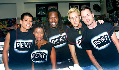 """New York, NY - September 21:  J&R Music and Computer World Brings Broadway to Park Row with the Cast of """"RENT"""", New York, USA"""