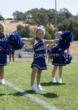 Rocklin Junior Thunder Mascot Cheer