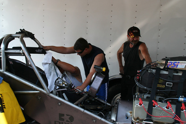 Top Alcohol Funny Car Pits (E-Town D-1)