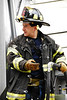 North Hudson Regional firefighter operates Ladder 5's turntable at a 5 alarm fire in Union City.