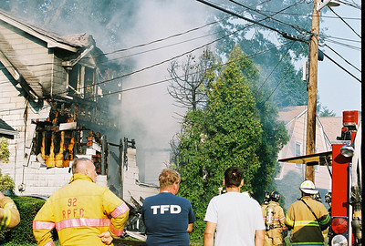 Photo's from Bogota 2nd Alarm Working House Fire Oakwood Rd. LODD 7-15-07