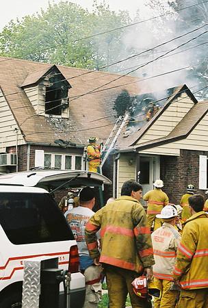 Fair Lawn 2nd alarm House Fire 36th Street 4-25-07