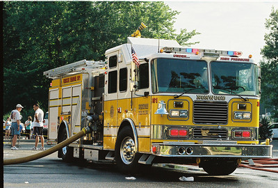 Photo's from Norwood Fire Dept. Wet Down Rescue Engine 361 6-12-07