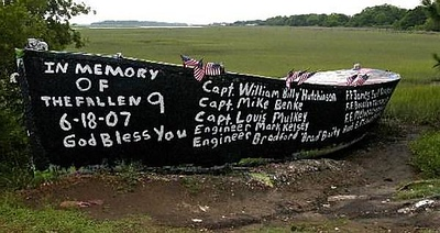 2007 Archive<br /> Boat painted 6-2007 for our nine fallen firefighters.<br /> Not sure who painted or took picture.<br /> Hope you can add to this awesome site!<br />  <br /> Thanks,<br /> Sandy Villarreal