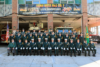SHELTON, CT - On the morning of September 16, members of Echo Hose Company #1 assembled for a company photo before heading out to the annual CT State Convention Parade. This year commemorated Echo Hose's 125th Anniversary.