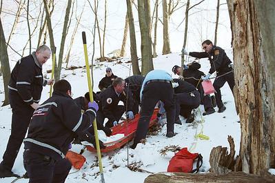 Fall Victim Newton Ma. Rear Of 143 Stanton Ave 2-19-07