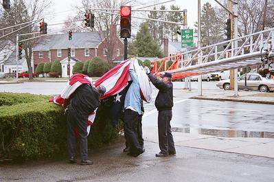 Retired Newton Fire Captain Ronald Palkey Funeral 04/07