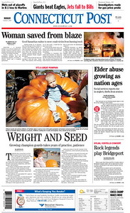 CT Post (FRONT PAGE) 10-1-07