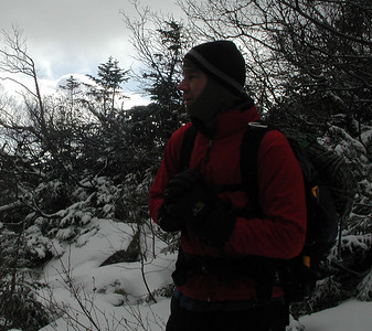 At our stopping point in Hungtington.  Chris checks out the dismal ice conditions