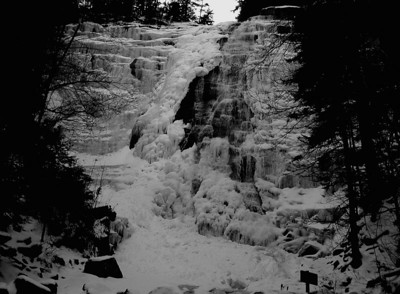 Arethusa Falls on Jan 13, 2007