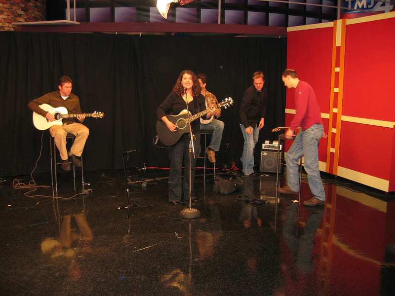 "Appearance on WTMJ's ""The Morning Blend"" on Friday, April 13th. This was taken during sound check before taping the show."