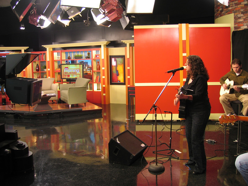 Good pic of the set for the show. (The Morning Blend)