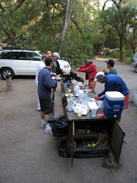Preparing Breakfast<br /> Henry Cowell Redwoods State Park